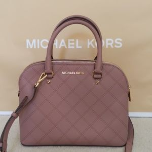 Michael Kors Quilted Maeve/Dusty Pink Dome Satchel